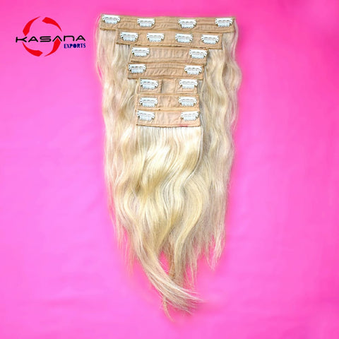 "Blonde 16"" inches 1 Piece Clip on extension"