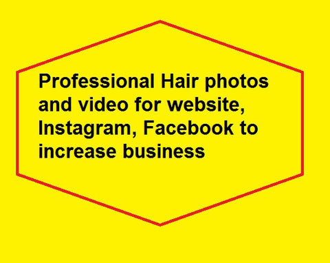 Professional Hair photos and video for website, Instagram, Facebook to increase business