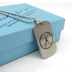TV Series | Westworld stainless steel dogtag style necklace pendant