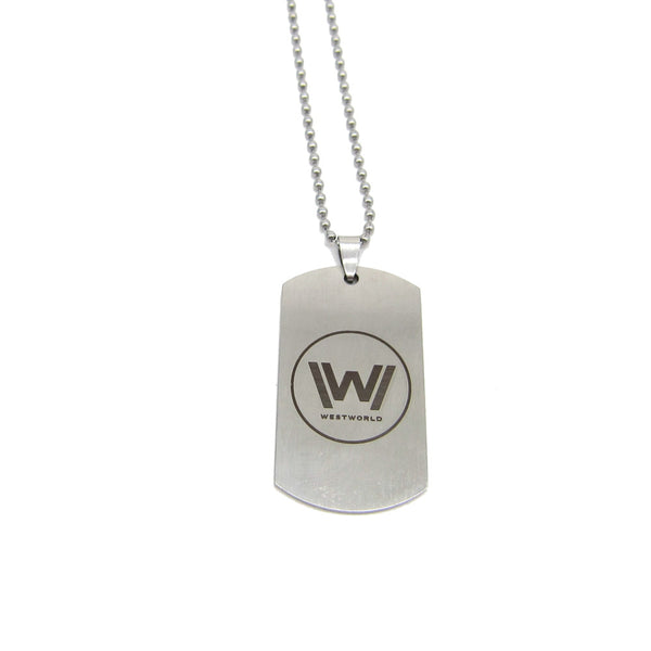 TV Series | Westworld stainless steel dogtag style necklace pendant | W logo