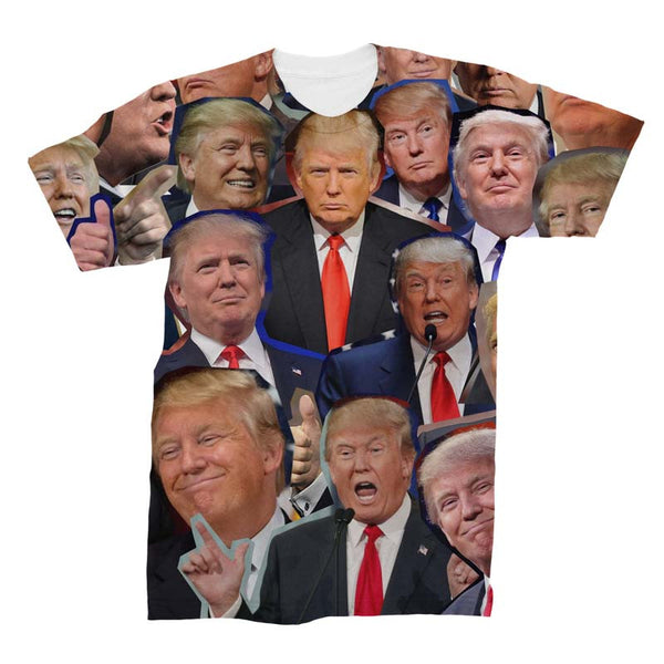 Donald Trump Photo Collage 3D T-Shirt Trump High Quality Fashion Clothing