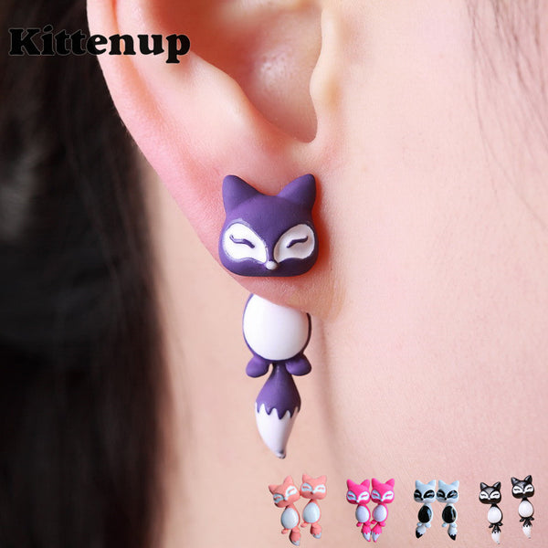 Cute Fox Stud Earrings For Women | Many Colors Available - TFC