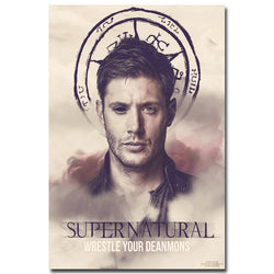 Supernatural - Devil Ghost Art Silk Fabric Poster Prints (10 Styles - 6 Sizes) | Wall Decor Dean Sam Winchester