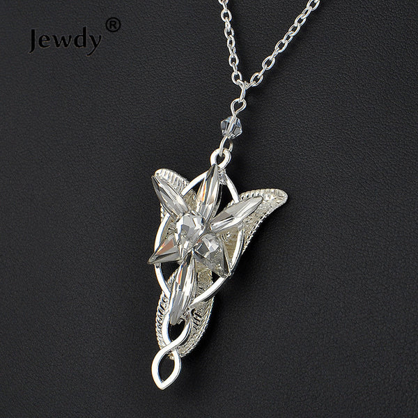 Lord of the Rings Arwen Evenstar Pendant necklace crystal | Hobbit Aragorn movies women