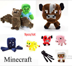 Minecraft 9pcs/lot Plush Toys Quality Plush Toys