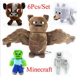 Minecraft (6pc set) NPC Character Plush Toys (20-36cm)