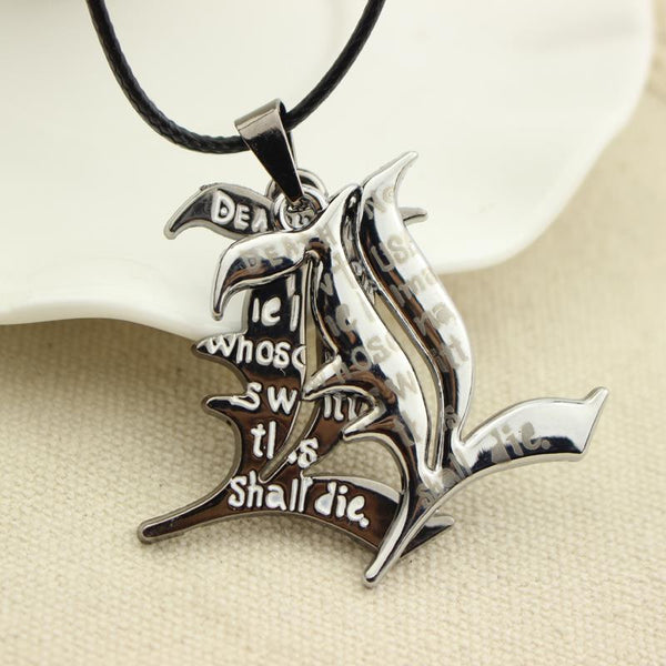 Anime Death Note Double l Yagami Non-Mainstream Charm Necklace