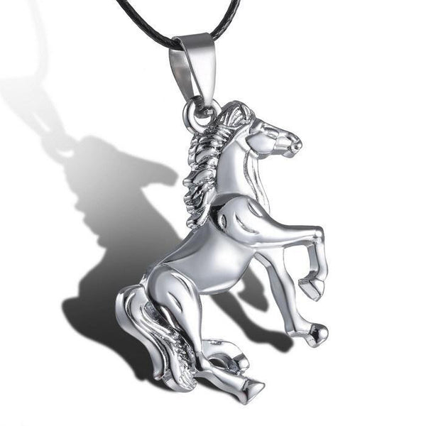 Gorgeous trotting horse stainless steel pendant necklace for women or men
