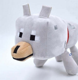 "Minecraft 1pc (9"" 23cm) Minecraft Wolf Plush Toy 