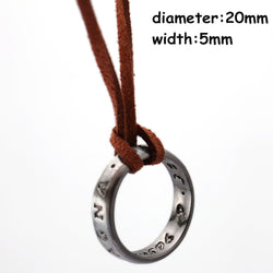Uncharted 4 A Thief's End Nathan Drake Pendant Cord Chain Necklace Accessories Collector's Edition Men and women