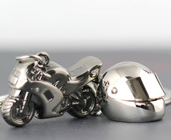 Classic 3D Model Motorcycle Motorbike Keychains | Alloy Helmet Key Chain