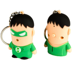 TV Series | Super Hero | Green Arrow Themed minifigure | LED Flashlight Keychain with Sound