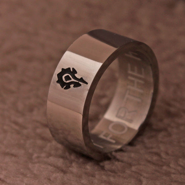 World of Warcraft Ring | For The HORDE Rings | For Fans WOW Ring HORDE Stainless Steel Ring