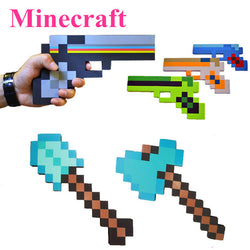 Minecraft foam toy figures | sword axe gun | Diamond weapons/tools 24-60cm