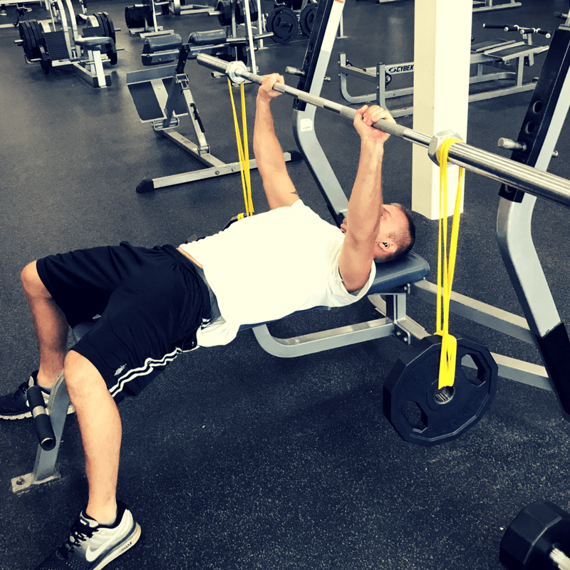 4 Chest Exercises With Resistance Bands Set For Set