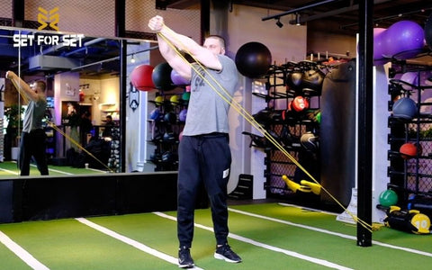 Resistance band abdominal exercises