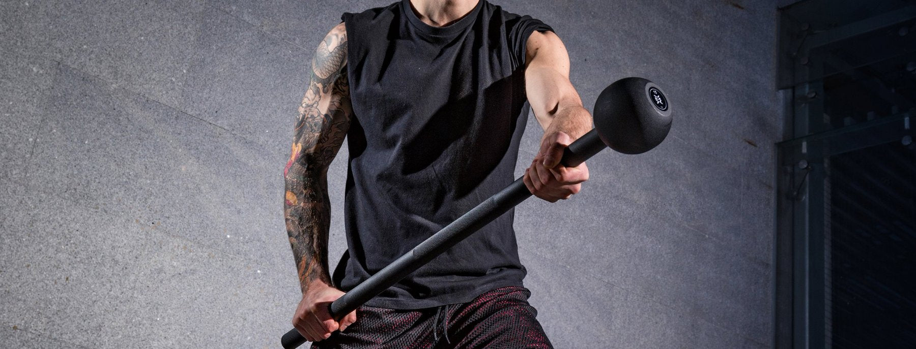 unconventional training equipment, the steel mace