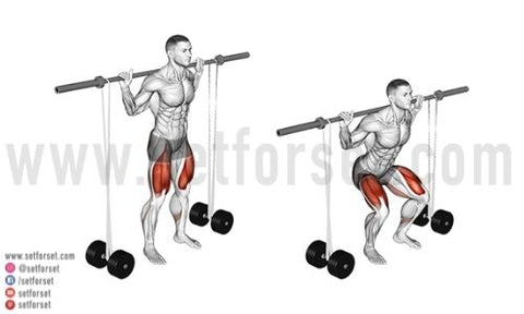 banded barbell squats