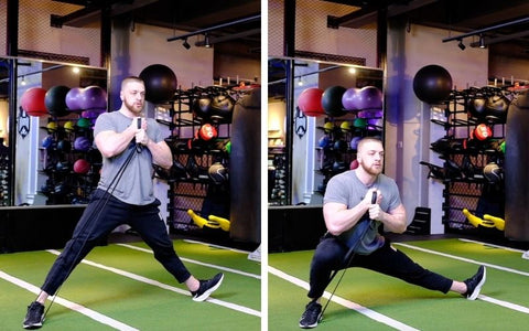 banded cossack squat