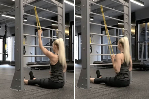 seated banded rows