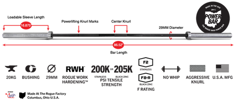 barbell for bodybuilding and strength training
