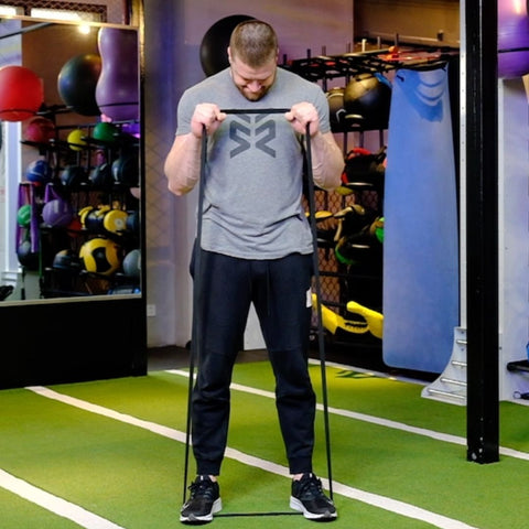 bicep workout with resistance bands