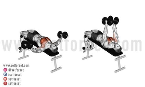 chest workout with dumbbells