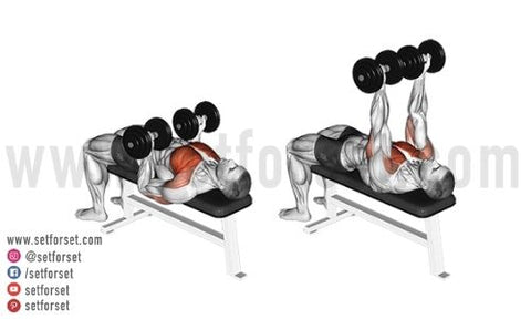dumbbell chest exercises that are easy on the shoulders