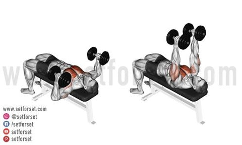 dumbbell middle chest exercise