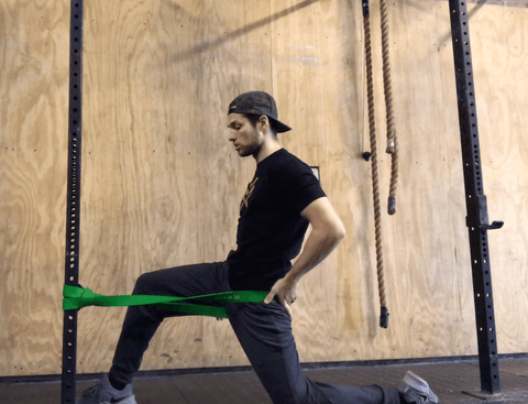 leg stretches with resistance bands