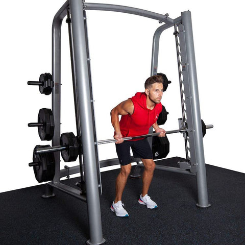 how much does a smith machine barbell weigh