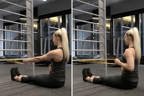 how to do a resistance band row