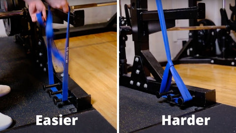 how to set up bands for barbell lifts