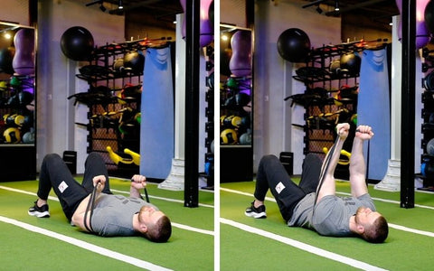 tricep exercises with workout bands
