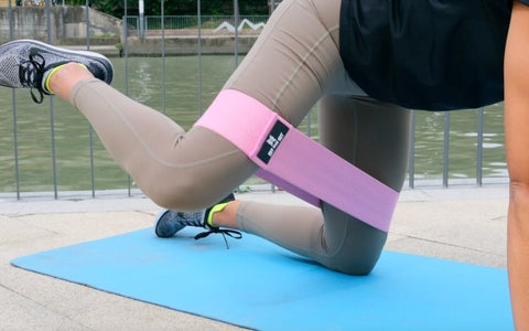 how to use fabric glute resistance bands