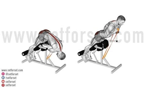 hyperextension exercise with resistance band