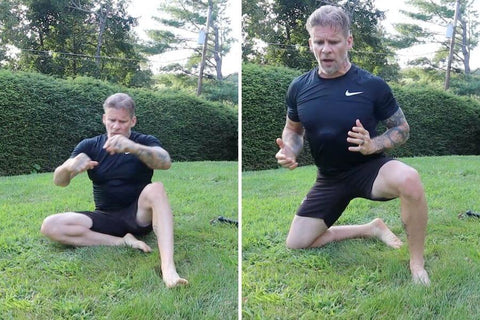 indian club and bodyweight workout