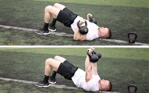 lower chest exercise with kettlebells