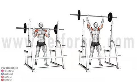 overhead press for side delts