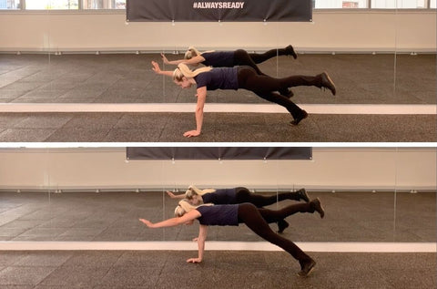 plank variations for balance