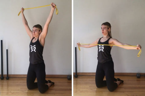 resistance band back exercises