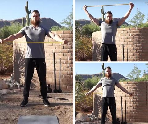 resistance band bench press warm up