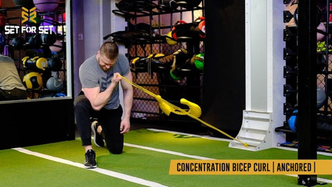 resistance band concentration curls