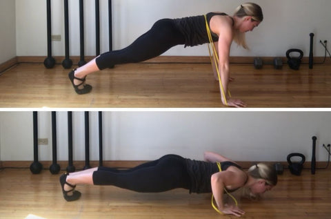 resistance band exercises chest