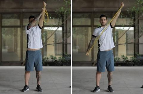 resistance band exercises for rhomboids