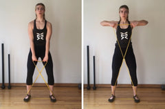 upright rows with resistance bands