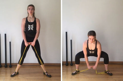 resistance band exercises legs