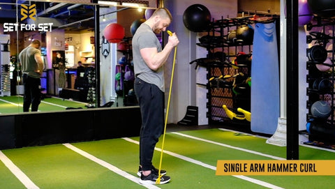 resistance band hammer curl