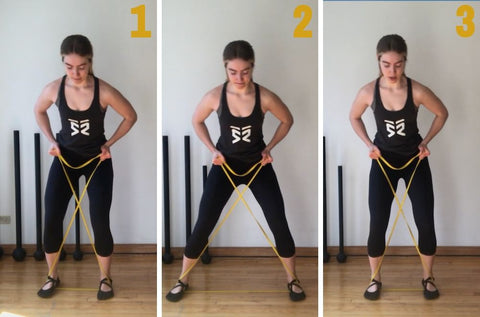 resistance band lateral walks