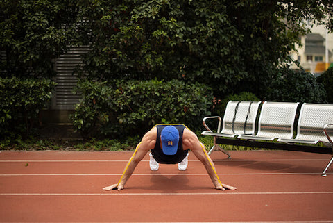 resistance band push up variations